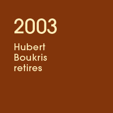 2003 Hubert Boukris retires
