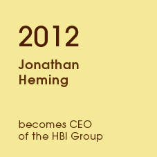 2012 Jonathan homing becomes CEO of the HBI Group
