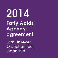 2014 Fatty Acids Agency agreement with Unilever Oleochemical Indonesia